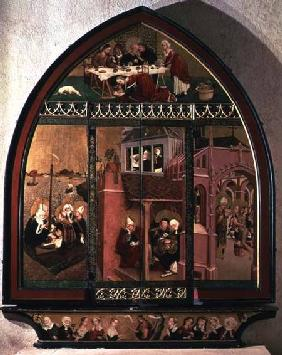 The Tiefenbronn Altarpiece (closed) 1432 (tempera & oil on parchment & panel)