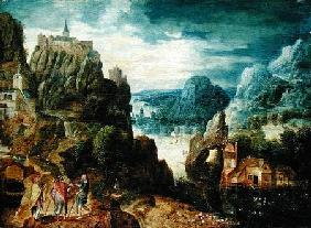 Mountainous Landscape with the Road to Emmaus