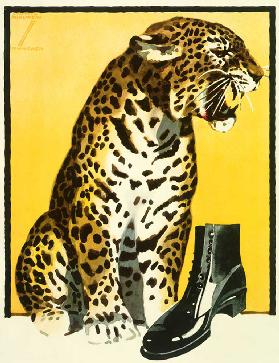 Poster for shoe advertising