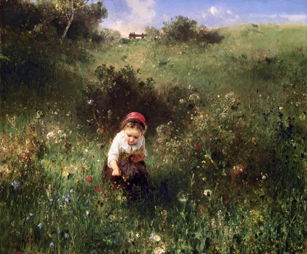 A Young Girl in a Field