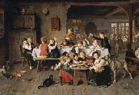 Ludwig Knaus - A children's party (the children's table)