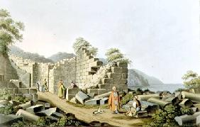 Ruins of an Ancient Temple in Samos, plate 58 from 'Views in the Ottoman Dominions', pub. by R. Bowy