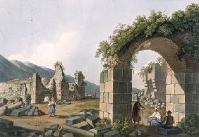 Ruins of the Baths at Ephesus, plate 43 from 'Views in the Ottoman Dominions', pub. by R. Bowyer