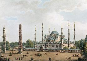 The Mosque of Sultan Achmet at Constantinople, plate 2 from 'Views in the Ottoman Dominions', pub. b