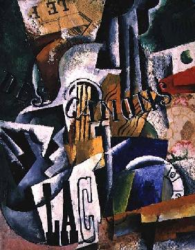Italian Still Life, 1914 (oil, gypsum and
