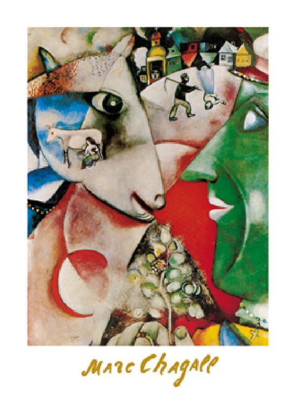 El pueblo y yo (MCH-268) - Poster - Marc Chagall