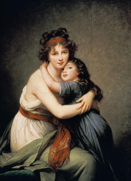 The artist with her daughter