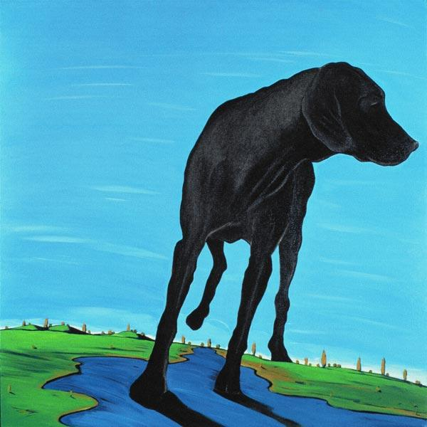 Joe''s Black Dog (new view), 2000 (acrylic on canvas)