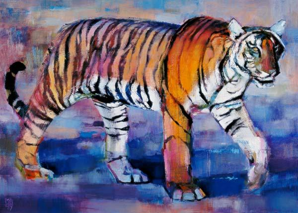 Tigress, Khana, India, 1999 (oil on canvas)