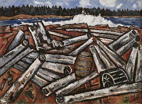 Log Jam, Penobscot Bay