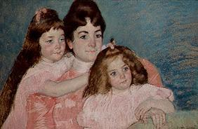 Madam A. F. Aude with her two daughters