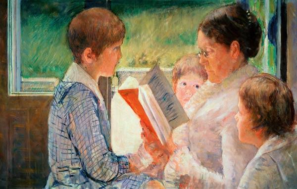 Mrs Cassatt Reading to her Grandchildren