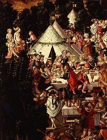(the banquet in the camp detail from the painting