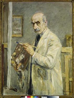 Self-portrait in the painter overall
