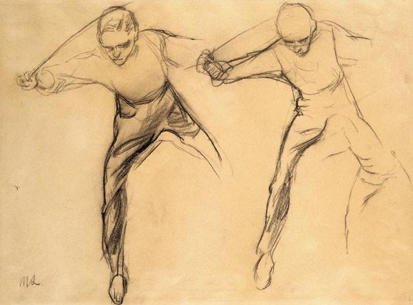 Two male figures (pencil on paper)