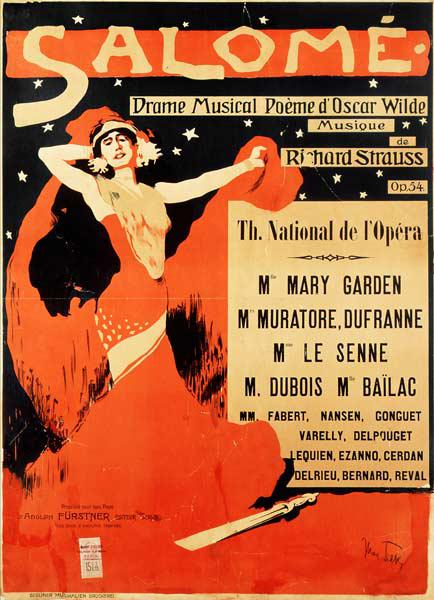 Poster advertising 'Salome', opera by Richard Strauss
