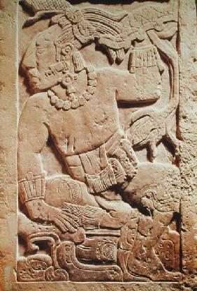 Bas relief of a warrior