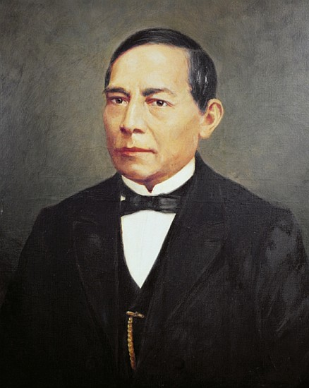 Portrait of Benito Juarez (1806-72) - Mexican School - portrait_of_benito_juarez_1806