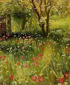 Ancher, Michael Peter : The spring garden
