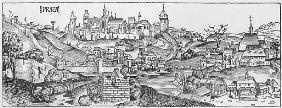View of Prague, illustration from the ''Liber Chronicarum'' Hartmann Schedel (1440-1514) published b