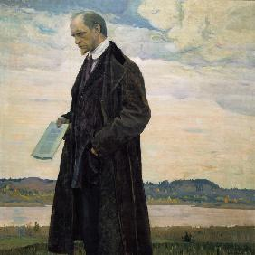 The Thinker. Portrait of the philosopher and publicist Ivan Alexandrovich Ilyin (1883-1954)