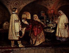 The first meeting of the Tsar Alexej Michailowitsc