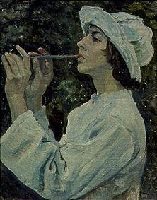 Woman with flute