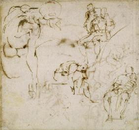 Study of Figures, c.1511 (pen & ink on paper)