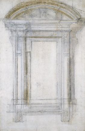 Buonarroti, Miguel �ngel : Study of a Window with a s...