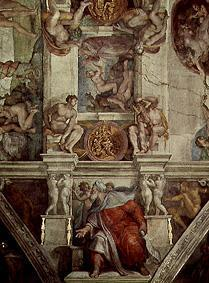 Ceiling fresco of the Sistine chapel in Rome: The