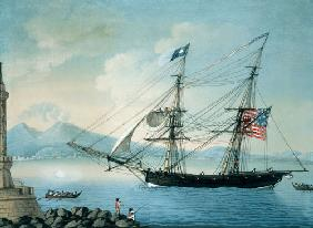 Brig Attatant of Boston coming out of Naples c.1800