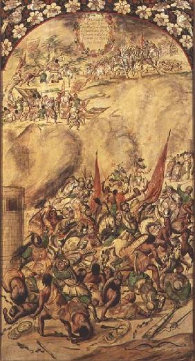 Conquest of Mexico: the Spaniards retreating, 1st July 1520