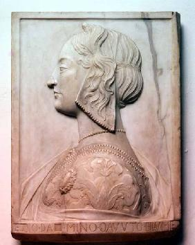 Portrait of a young woman, relief