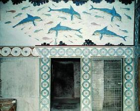 The Dolphin Frescoes in the Queen's Bathroom, Palace of Minos