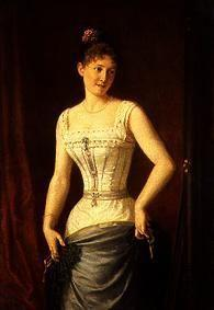 Young woman in the corset.