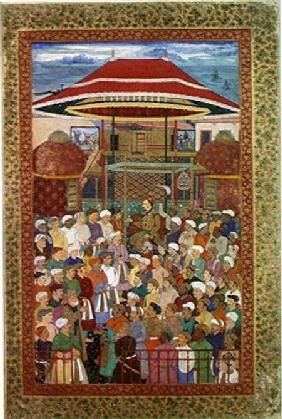 The Court Welcoming Emperor Jahangir (Shah Salim) (1569-1627)
