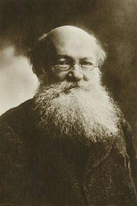 Portrait of Count Peter (Pyotr) Alexeyevich Kropotkin (1842-1921)