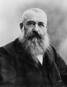 Portrait of Claude Monet (1841-1926) 1901 (b/w photo)