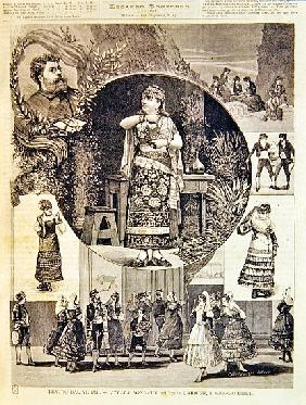 Programme for an Italian production of the opera ''Carmen'', Georges Bizet (1838-75) 1880