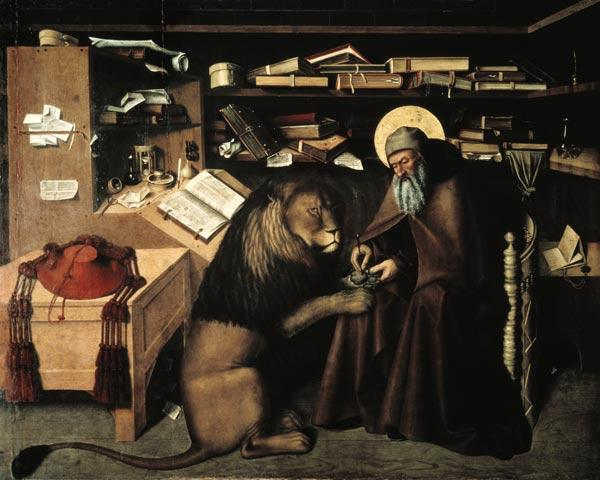 St. Jerome Removing a Thorn from the Lion's Paw