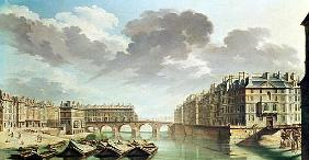 The Ile Saint-Louis and the Pont Marie in 1757