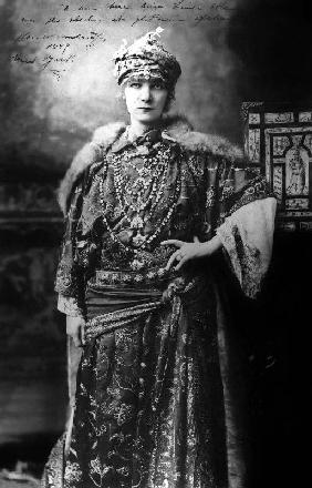 Actress Sarah Bernhardt in New York