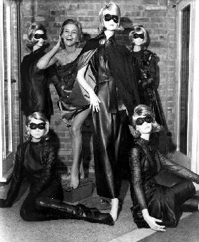 Aeries The Avengers with Honor Blackman , as Cathy Gale with fashion design by Frederick Starke
