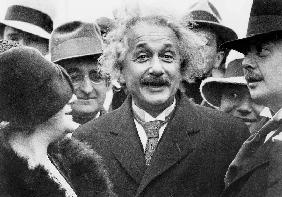 Albert Einstein physician author of the Relative Theory and his 2nd wife Elsa Lowenthal on the SS Be