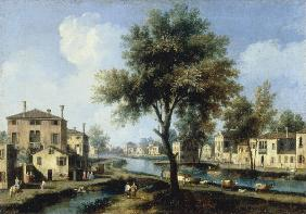 Brenta / View / Ptg.by Canaletto / C18th