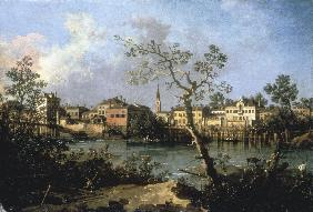 Brenta Canal / Ptg.by Canaletto / c.1760