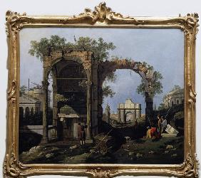 Canaletto / Capriccio and classical ruin