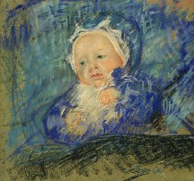 Cassatt / Child on Blue Cushion / 1881