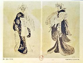 Costume designs for the opera ''Turandot'' by Giacomo Puccini (1858-1924) by Cozzi, Iudi