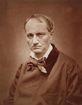 Charles Baudelaire (1821-67), French poet, portrait photograph by Studio of Goupil